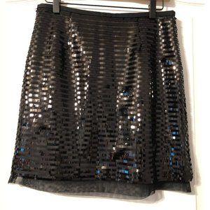 Black Sequin Miniskirt size small Worthington